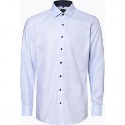 OLYMP Luxor modern Fit - Koszula męska – niewymagająca prasowania, niebieski. Niebieskie koszule męskie na spinki marki OLYMP Luxor modern Fit, m. Za 149,95 zł.