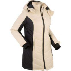 Płaszcze damskie: Płaszcz funkcyjny pikowany bonprix beżowo-czarny