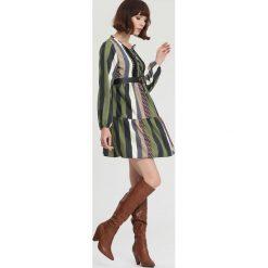 Zielona Sukienka The One And Only. Zielone sukienki mini marki other, l, prążkowane. Za 89,99 zł.