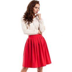 Czerwona Spódnica Midi z Plisowaniami. Czerwone spódnice wieczorowe marki Molly.pl, l, z tkaniny, midi, proste. Za 95,90 zł.