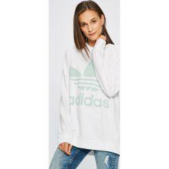 Adidas Originals - Bluza. Szare bluzy rozpinane damskie adidas Originals, z nadrukiem, z bawełny, bez kaptura. W wyprzedaży za 259,90 zł.