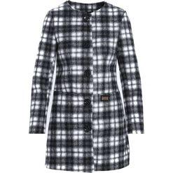 Płaszcze damskie: Czarno-Biały Płaszcz Business
