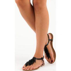 LIA ozdobne sandały japonki. Czarne rzymianki damskie comer. Za 49,99 zł.