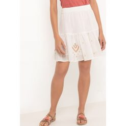 Spódniczki: Haftowana spódnica z falbanami