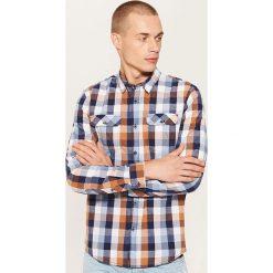 Koszula w kratę - Brązowy. Brązowe koszule męskie na spinki House, l. Za 79,99 zł.