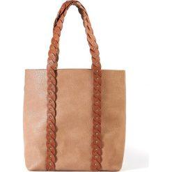 Torba na zakupy. Czarne shopper bag damskie La Redoute Collections, w paski, z materiału. Za 141,08 zł.