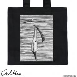 Prążki - torba premium. Szare shopper bag damskie Pakamera, w prążki, z materiału. Za 79,00 zł.