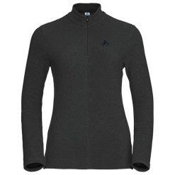 Odlo Bluza tech. Odlo Midlayer 1/2 zip ROY - 527411 - 527411/40215/S. Czarne bluzy sportowe damskie marki DOMYOS, z elastanu. Za 166,42 zł.