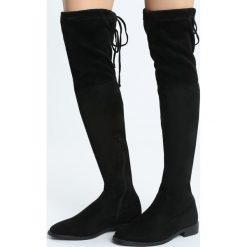 Czarne Kozaki Beat Take. Czarne buty zimowe damskie marki Born2be, z materiału, z okrągłym noskiem, na obcasie. Za 169,99 zł.