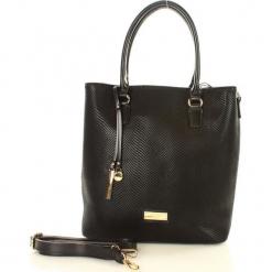 Eva Minge Femestage Miesjak torebka czarny. Czarne torebki klasyczne damskie marki Eva Minge, w paski, ze skóry. Za 169,00 zł.