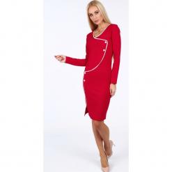 Czerwona sukienka dopasowana 19140. Czerwone sukienki marki Fasardi, l. Za 69,00 zł.