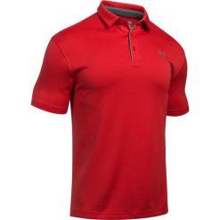 Under Armour Koszulka męska Tech Polo Czerwona r. M (1290140-600). Szare koszulki polo marki Under Armour, l, z dzianiny, z kapturem. Za 125,54 zł.