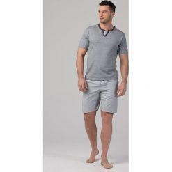 Piżamy męskie: Męska piżama RÖSSLI Stripes Grey