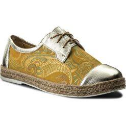 Espadryle ROBERTO - 603 Żółty Orient/Złoto Lustro. Żółte espadryle damskie marki Born2be, moro, na płaskiej podeszwie. W wyprzedaży za 199,00 zł.