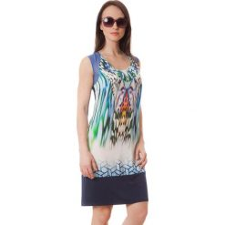 Sukienki hiszpanki: Sukienka w kolorze kremowo-niebieskim