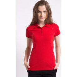Bluzki sportowe damskie: Koszulka polo damska TSD051AZ – CZERWONY – 4F