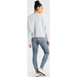 GStar MIDGE ZIP MID SKINNY  Jeans Skinny Fit lt vintage aged destroy. Szare jeansy damskie G-Star, z bawełny. W wyprzedaży za 461,30 zł.