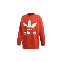 Bluzy adidas  Bluza oversize z zaokrąglonym dekoltem Trefoil. Brązowe bluzy męskie rozpinane Adidas, l. Za 279,00 zł.