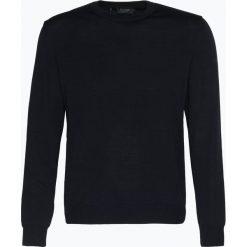 März - Męski sweter z wełny merino, niebieski. Niebieskie swetry klasyczne męskie März, m, z wełny, z klasycznym kołnierzykiem. Za 399,95 zł.