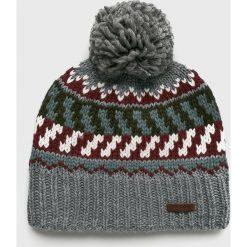 Barts - Czapka Nevada. Szare czapki zimowe męskie marki Barts, na zimę, z dzianiny. W wyprzedaży za 99,90 zł.