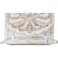 Torby i plecaki: Kopertówka wyszywana perełkami bonprix srebrny kolor - kremowy