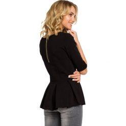Bluzki asymetryczne: Bluzka z kontrafałdą - czarna