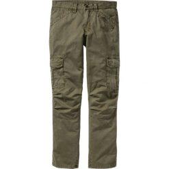 Spodnie bojówki Loose Fit Straight bonprix zielony khaki. Zielone bojówki męskie marki bonprix. Za 149,99 zł.