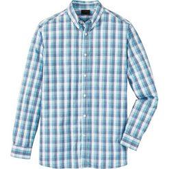 Koszula z długim rękawem Regular Fit bonprix morski w kratę. Białe koszule męskie marki bonprix, z klasycznym kołnierzykiem, z długim rękawem. Za 59,99 zł.