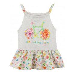 Bluzki dziewczęce: Bluzka na ramiączkach z falbanką dla dziewczynki