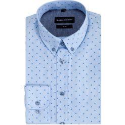 Koszula SIMONE KDNS000368. Niebieskie koszule męskie na spinki Giacomo Conti, m, z bawełny. Za 169,00 zł.