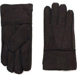 Rękawiczki męskie: Art of Polo Męskie rękawiczki skórzane Kożuchowe ciemnobrązowe (rk16571)
