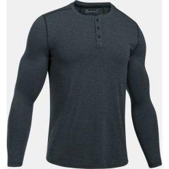 Under Armour Koszulka męska Threadborne Knit Fitted Henley grafitowa r. M (1298403-016). Czarne koszulki sportowe męskie marki Under Armour, m, z kołnierzem typu henley. Za 129,00 zł.
