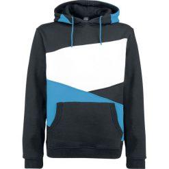 Urban Classics Zig Zag Hoodie Bluza z kapturem czarny/turkusowy/biały. Niebieskie bluzy męskie rozpinane marki Urban Classics, l, z okrągłym kołnierzem. Za 199,90 zł.