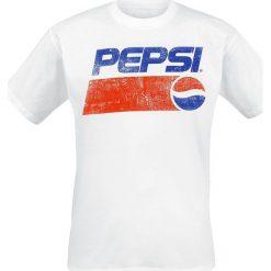 Pepsi Logo T-Shirt biały. Białe t-shirty męskie z nadrukiem marki INESIS, m, z bawełny, z długim rękawem. Za 79,90 zł.