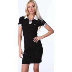 Sukienki: Sukienka polo czarna 3810
