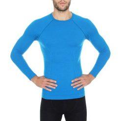 Koszulki sportowe męskie: Brubeck Koszulka męska z długim rękawem Active Wool niebieska r. XL (LS12820)