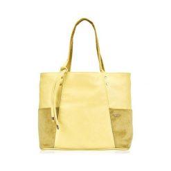 Shopper bag damskie: TORBA SHOPPER FELICE BONITA ŻÓŁTA KINLEY