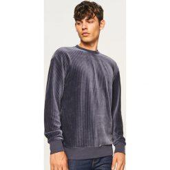 Bluza z prążkowanego weluru - Niebieski. Czerwone bluzy męskie rozpinane marki KALENJI, m, z elastanu, z długim rękawem, długie. Za 119,99 zł.