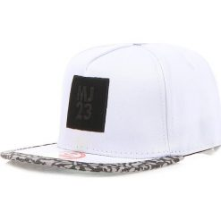 Czapka męska snapback biała (hx0214). Białe czapki z daszkiem męskie marki Dstreet, z aplikacjami, eleganckie. Za 69,99 zł.