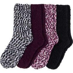 Miękkie skarpetki (4 pary) bonprix czarno-jeżynowo-kolorowy. Fioletowe skarpetki damskie marki FOUGANZA, z bawełny. Za 49,99 zł.