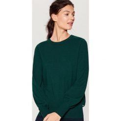 Sweter z marszczonymi rękawami - Khaki. Brązowe swetry klasyczne damskie marki DOMYOS, xs, z bawełny. Za 79,99 zł.