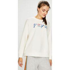 Pepe Jeans - Bluza Robin. Szare bluzy z nadrukiem damskie Pepe Jeans, l, z bawełny, bez kaptura. Za 259,90 zł.