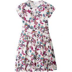 Sukienki dziewczęce: Sukienka shirtowa z nadrukiem bonprix biel wełny z nadrukiem