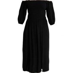 City Chic DRESS ISLAND HOLIDAY Długa sukienka black. Czarne długie sukienki marki City Chic, z materiału, z długim rękawem. Za 379,00 zł.