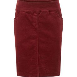 Spódnica sztruksowa ze stretchem i karczkiem bonprix czerwony kasztanowy. Czerwone spódniczki marki Isla Ibiza Bonita, xs, z bawełny, maxi. Za 99,99 zł.
