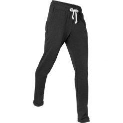 Spodnie dresowe do relaksu, długie, Level 1 bonprix czarny melanż. Czarne spodnie dresowe damskie marki KIPSTA, l, z bawełny, na fitness i siłownię. Za 74,99 zł.