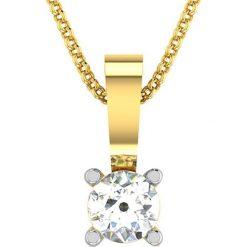 Naszyjniki damskie: Srebrny naszyjnik z zawieszką – dł. 40 cm – dł. 40 cm