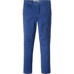Spodnie Slim Fit ze zdobieniami w stylu biker bonprix kobaltowy. Czarne spodnie chłopięce marki bonprix, w paski, z dresówki. Za 49,99 zł.