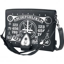 Poizen Industries Occult Bag Torba kurierska czarny. Czarne torebki klasyczne damskie Poizen Industries, w paski. Za 144,90 zł.