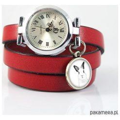 Bransoletki damskie: Zegarek, bransoletka – Królik – czerwony